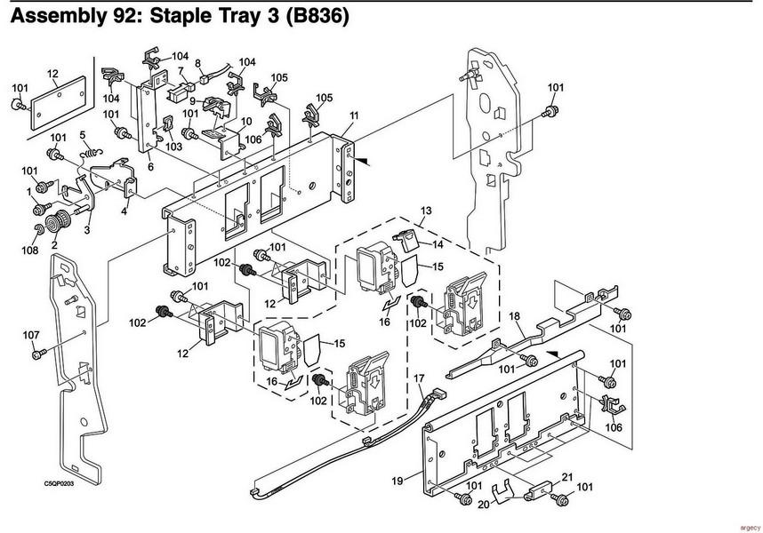 Ibm Infoprint 2190 2210 2707 001 2707 002 Parts
