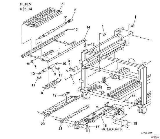 Xerox Phaser 7750 Parts