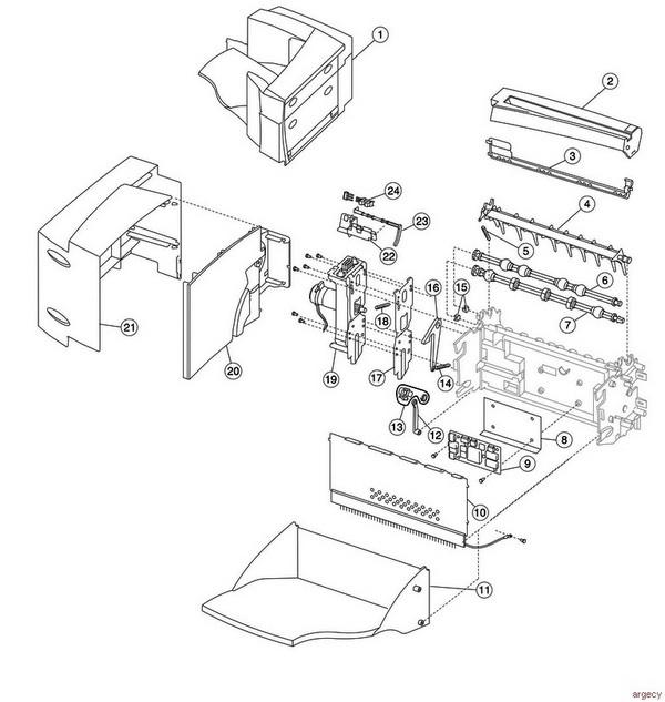 Lexmark c770 c772 parts argecy for 13 20 paper jam check rear door