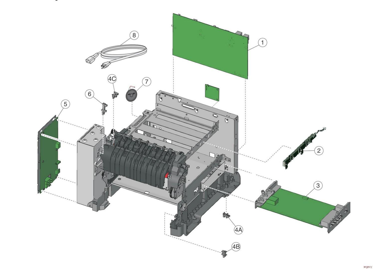 Lexmark Cx310 Cx317 Cx410 Cx417 Cx510 Cx517 Xc2132 Parts