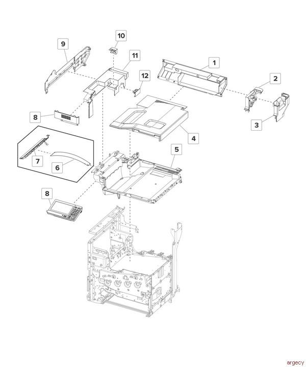 Lexmark Cx820de Cx820dtfe Cx6152 Parts