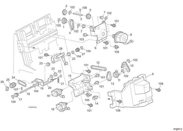 ibm infoprint finisher sr5000  b830  parts