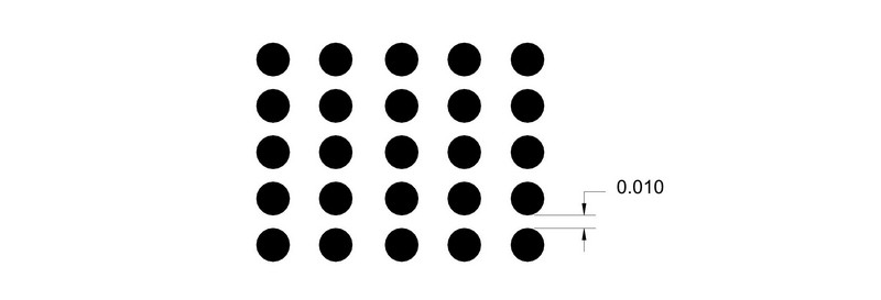 If The Dots Do Not Touch Space Between Should Exceed 0010 Inch As Shown Below