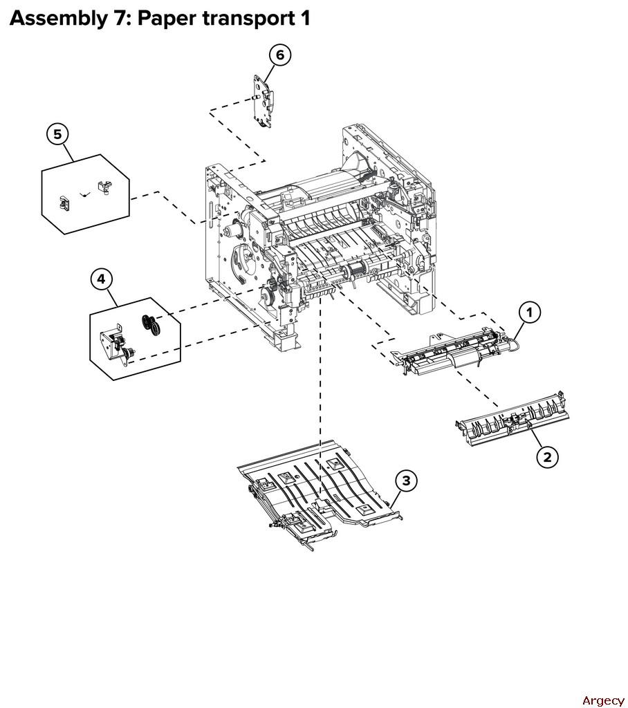 Lexmark MS321 MS421 MS521 M124x B2338 B2442 B2546 Parts | Argecy