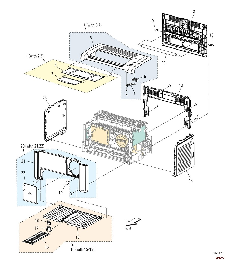Xerox WorkCentre 3010 3040 3045 Parts | Argecy
