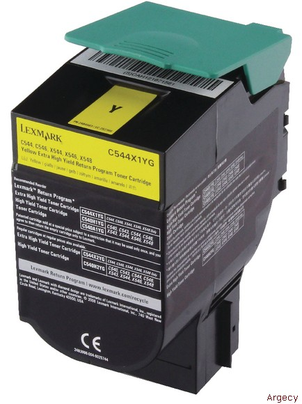 Lexmark C544X1YG 4K Page Yield (New) - purchase from Argecy