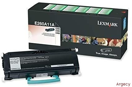Lexmark E260A11A 3500 Page Yield  (New) - purchase from Argecy
