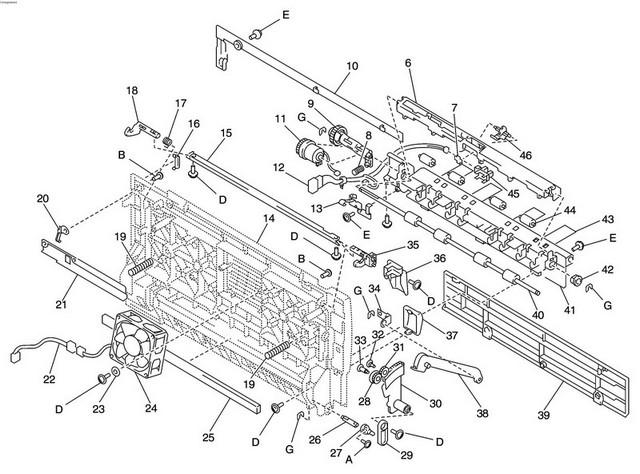 w810 parts printer manual feed