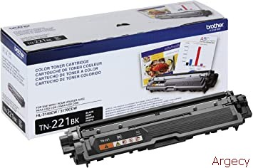 Brother TN221BK 2500 Page Yield Compatible (New) - purchase from Argecy