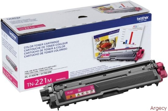 Brother TN221M 1400 Page Yield Compatible (New) - purchase from Argecy