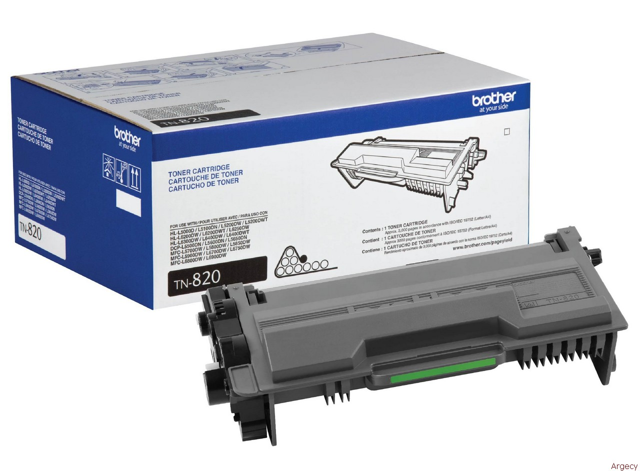 Brother TN820 3K Page Yield Compatible (New) - purchase from Argecy