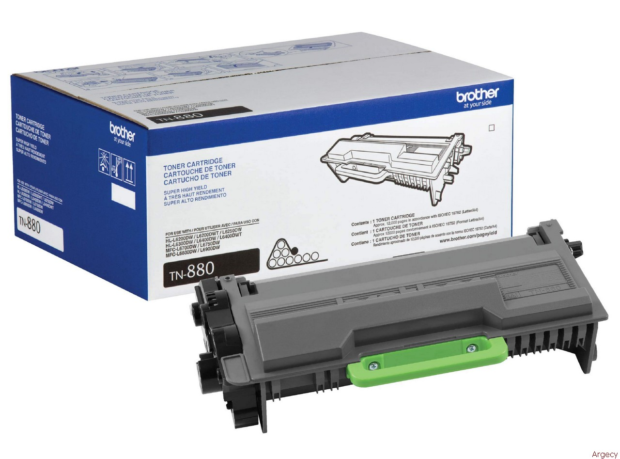 Brother TN880 12K Page Yield Compatible (New) - purchase from Argecy