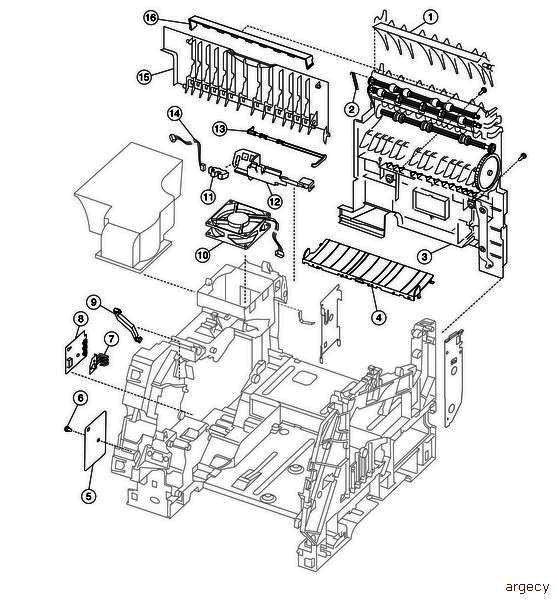 40x0046 paper size sensing board assembly for lexmark x644e   x646e printer